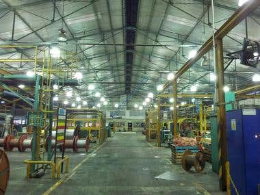 To improve lighting manufacturing area