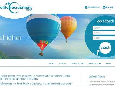 Responsive conversion work for Profile Recruitment Group