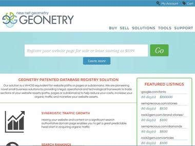 HTML and PHP Web Development for Geonetry