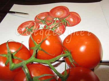 Watercolor Tomatoes (exclusive)
