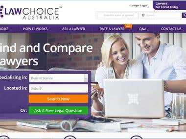 Design Improvements and Responsive Conversion for LawChoice