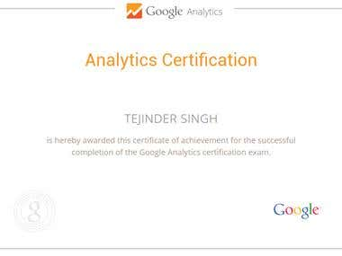 Certified Google analytics