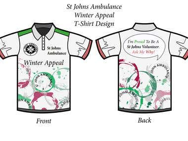 "St Johns Ambulance ""Winter Appeal\"" T-Shirt"