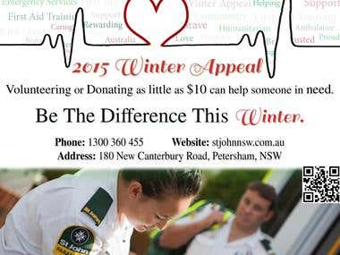 "St Johns Ambulance ""Winter Appeal\"" Poster Design"