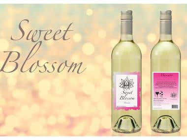 Sweet Blossom Wine Label