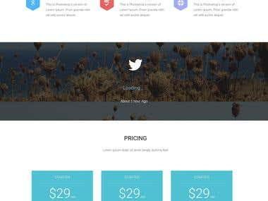 Elite | Single Page HTML Template