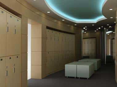 Locker Room Interior Desgin
