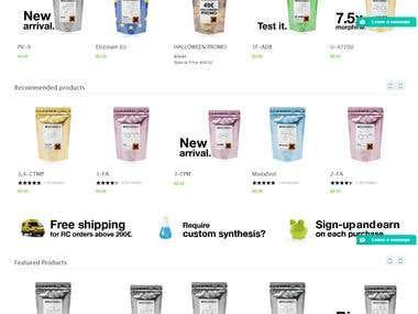 Magento Ecomerce Website