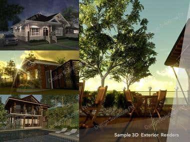 Sample Exterior 3D Model & Render
