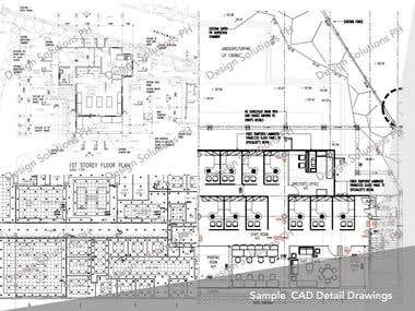 Sample CAD Detail Drawings and Floor Plans