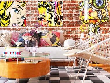 Pop Art style living