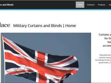 Military curtains and blind Website