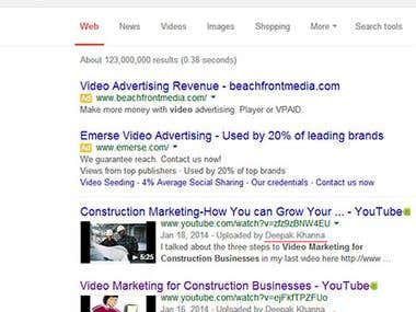 Video Seo Results