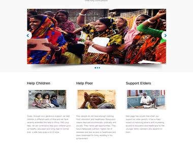 Website development Project(Non Profit NGO)