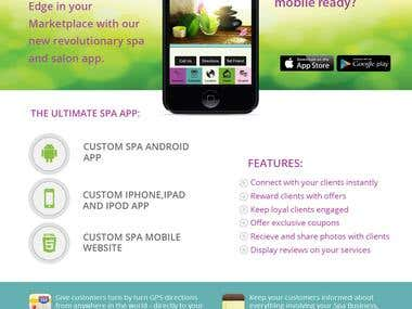 Spa App Promotional Flyer