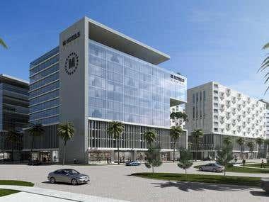 Multi-use High rise complex