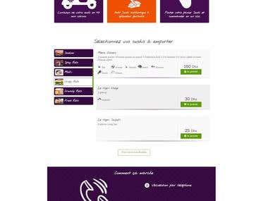 Site web Sushi