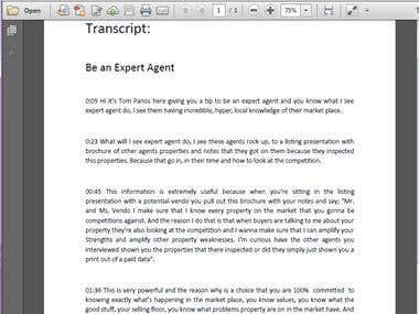 TRANSCRIBE VIDEO: How to be An expert Agent