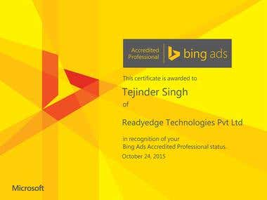 Certified Microsoft Bing Accredited Professional