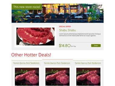 Green Grocer web design