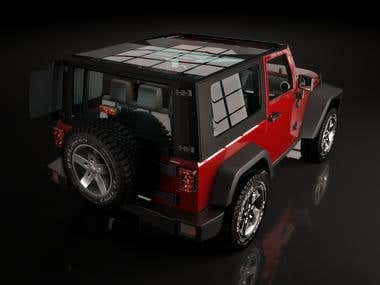 3ds max jeep render