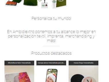 eCommerce. Personalized merchandising online.