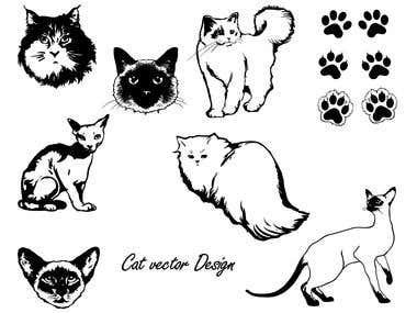 Cat vector design