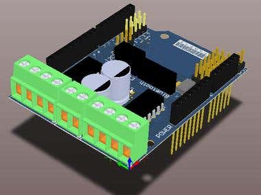 Design and routing a Arduino Shield for stepper motor ctrl