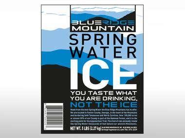 Blue Ridge Mountain Spring Water Ice 5 lb