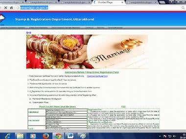 Marriage registration portal home page