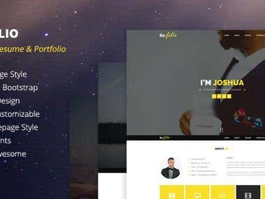 Website Design - Template Design