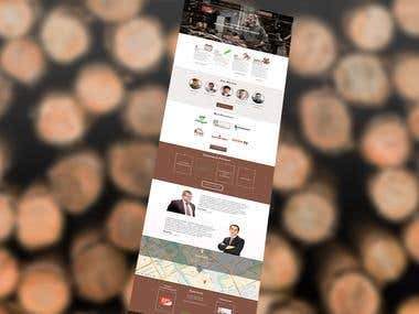 design website for organizators of conference
