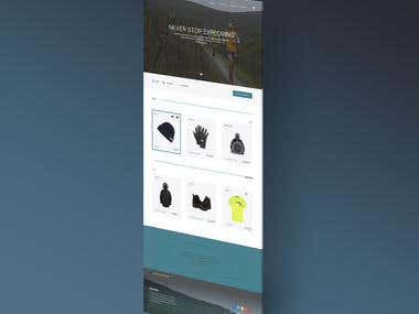design a website about selling clothing, e-commerce
