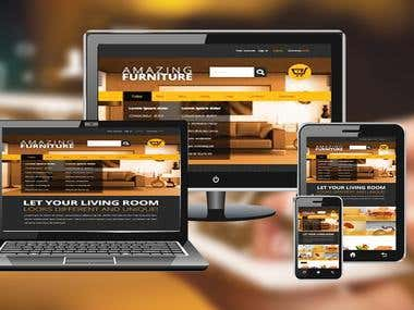 Responsive Furniture Shop