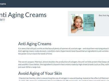 Online creams Affiliate Store