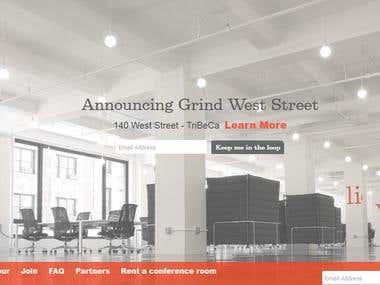 GrindSpaces wordpress website