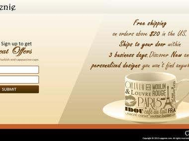 Cup Genie Landing Page Template