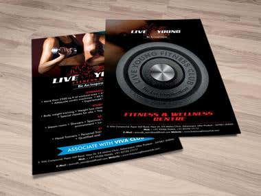 2pg Flyer for Fitness Club