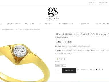 Development of Danish jewelry online shop