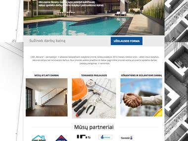 Representational construction website WordPress PHP