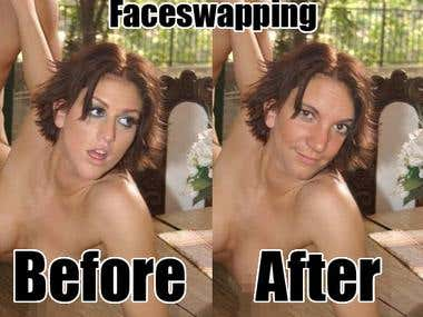 Faceswapping in photoshop