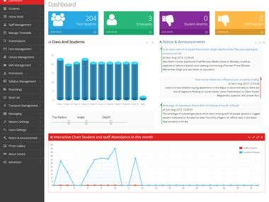 Online school management system/Education erp