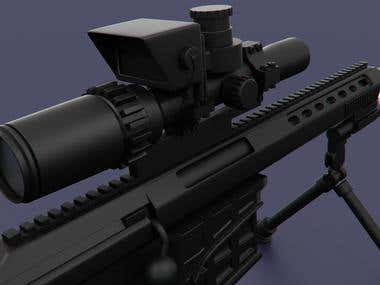 The Barrett M98B sniper rifle.