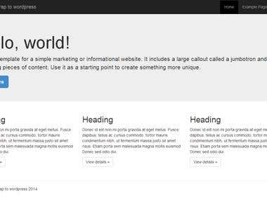 wordpress Blog development
