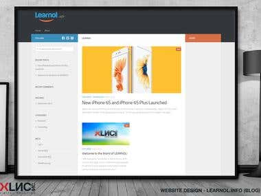 Website Design - Learnol.info (a blog)