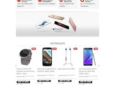 Magento Webstore for Mobile & Accesories