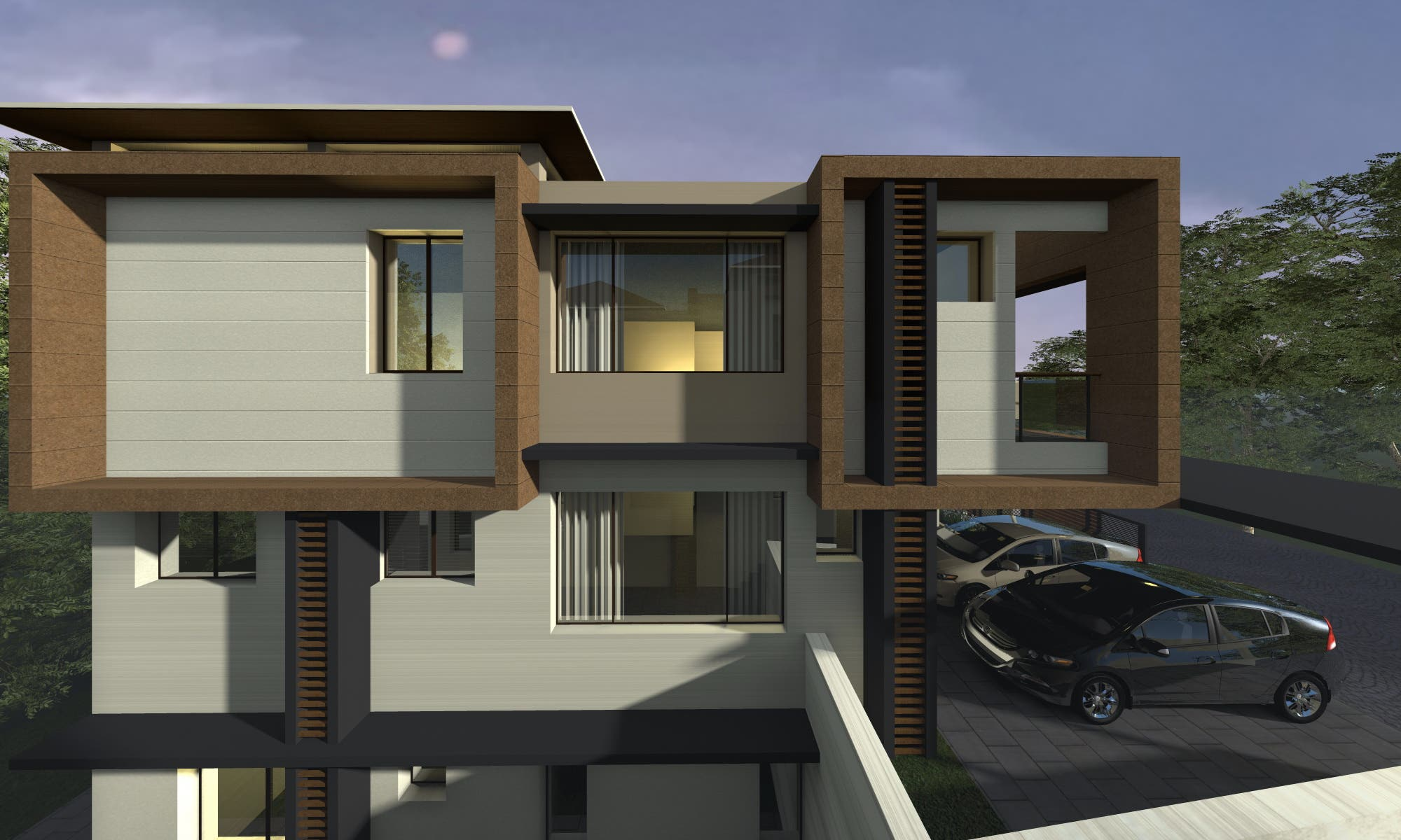 House facade 3d visualisation
