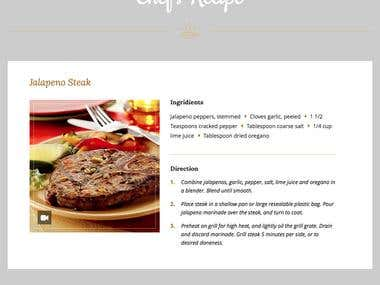 Wordpress Template Setup for a Restaurant