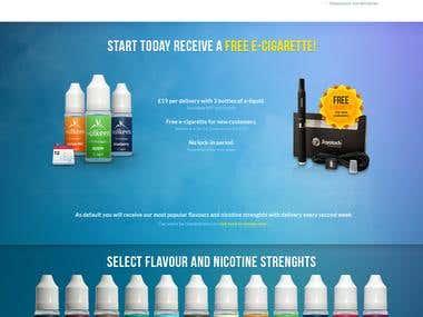 Landing Page E-Liquids