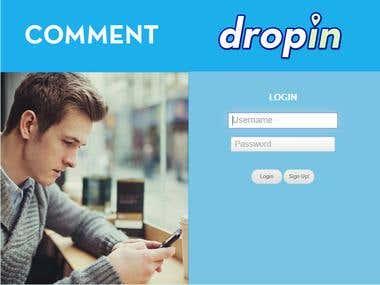 DropIn - Social Network